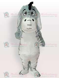 Grey Donkey Adult Mascot Costume  Grey Donkey Mascot  Grey Donkey