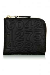 Black Numbers Small Coin Cash Wallet by Comme des Garcons Ac   Black