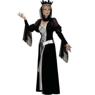 Black Queen Adult   This costume includes a black full length gown