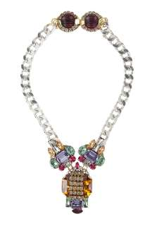 Anton Heunis  Art Deco 3 Part Pendant Necklace by Anton Heunis