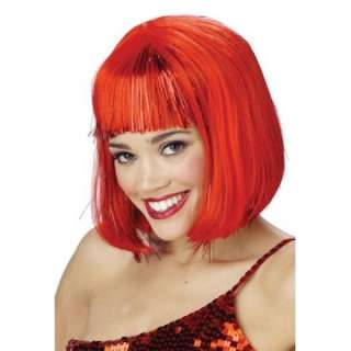 Adult Red Shimmering Bob Wig   Female Costume Wigs   15MR177048
