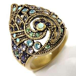 Heidi Daus Teared Tapestry Crystal Ring