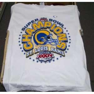 St. Louis Rams Vintage 2000 Super Bowl T Shirt Sz. M Retro