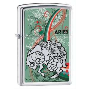Zippo Lighter Zodiac Aries, High Polish Chrome