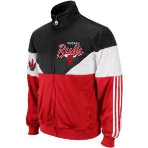 adidas Chicago Bulls Jam Full Zip Track Jacket   Red/Black