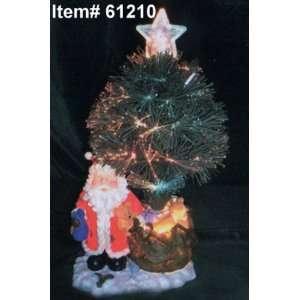 18 Light up Fiber Optic Artificial Christmas Tree W Santa
