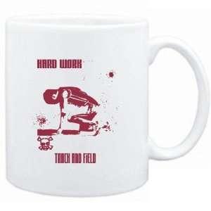 com Mug White  HARD WORK Track And Field  Sports Sports & Outdoors