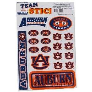 Auburn Tigers Vinyl Team Sticker Sheet