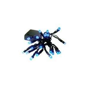 Battery Operated Blue LED Wide Angle Christmas Lights Patio, Lawn