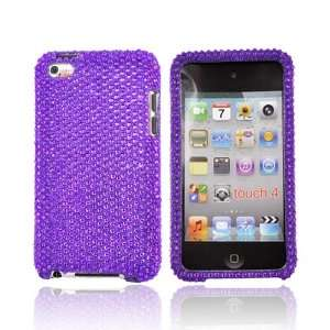 For iPod Touch 4 Bling Hard Case Cover PURPLE Electronics