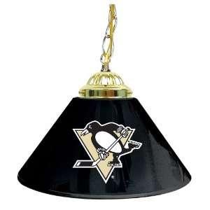 NHL Pittsburgh Penguins 14 Inch Single Shade Bar Lamp