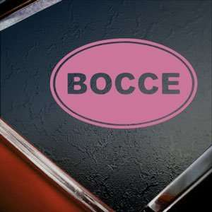 Bocce Pink Decal Car Truck Bumper Window Vinyl Pink