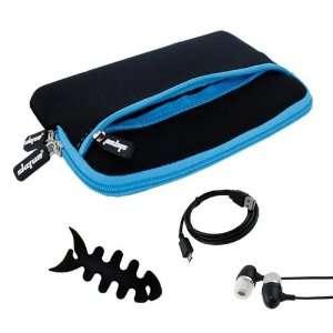 Premium Glove Series Case(Black with Blue Trim) + Black