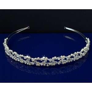 SC Bridal Wedding Tiara Headband With Pearls and Crystals