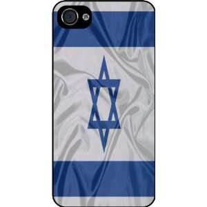 KnightTM Israel Flag Rubber Black iphone Case (with bumper) Cover