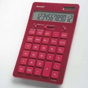 Calculator 12 Characters Solar Battery Red High Quality Kitchen