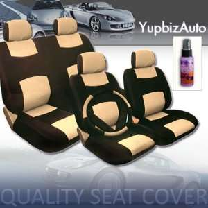 Car Seat Covers Set with Steering Wheel Cover and Shoulder Pads and