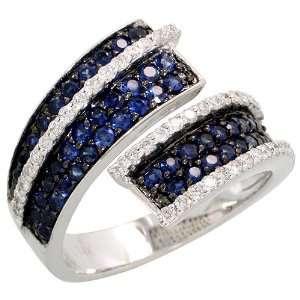 Carat Brilliant Cut Diamonds & 1.09 Carats Brilliant Cut Blue Sapphire