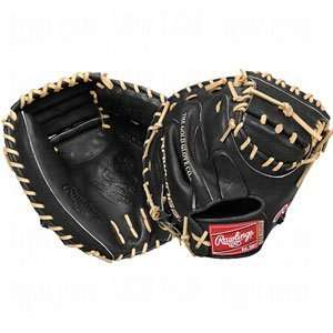 Rawlings Black/Camel Catchers Mitt Baseball Glove (33 Inch