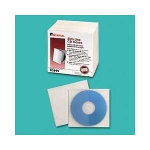 Slim Line Polypropylene CD/DVD Storage Cases, Clear, 25