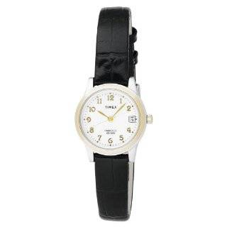 Timex Womens T2M444 T Series Black Leather Strap Watch