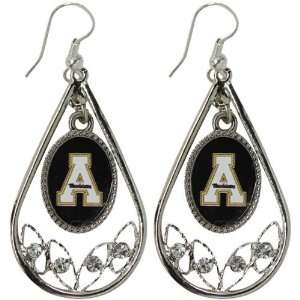 State Mountaineers Womens Tear Drop Crystal Dangle Earrings