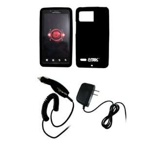 EMPIRE Black Silicone Skin Case Cover + Car Charger (CLA