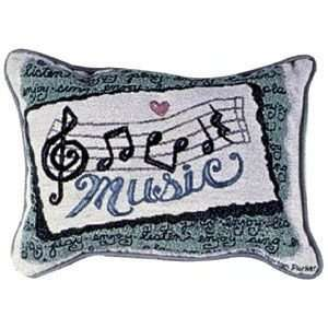 Music Notes Decorative Tapestry Toss Pillow: Home
