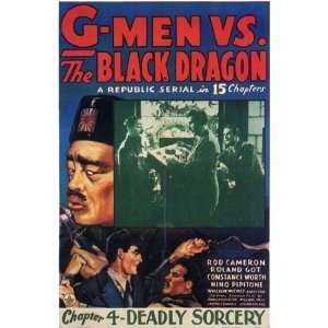 G Men Vs the Black Dragon by Unknown 11x17 Everything