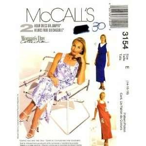 McCalls 3154 Sewing Pattern Dress Jumper Size 14   16
