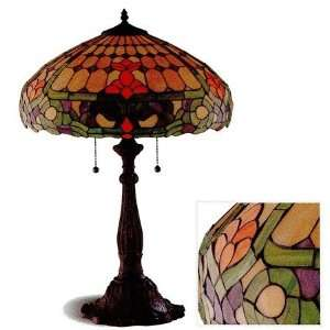 Color Floral Pattern Tiffany Style Table Desk Lamp