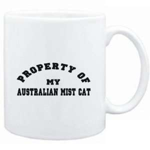 Mug White  PROPERTY OF MY Australian Mist  Cats