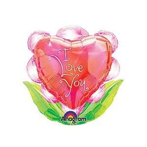 Love You Flower 14 Already Air Filled Cup & Stick