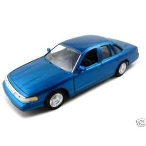 1998 Ford Crown Victoria Metallic Blue Diecast Model Car 1
