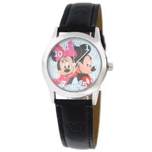 Mickey and Minnie Mouse Black Leather Strap Watch Toys & Games