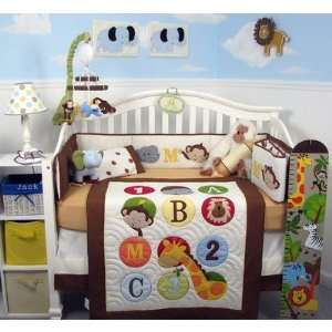 com 8 Piece 123 Giraffe Baby Nursery Crib Bedding Set Home & Kitchen