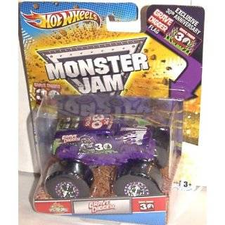 GRAVE DIGGER 30TH ANNIVERSARY 164 SPECTRAFLAME PURPLE GRAVE DIGGER