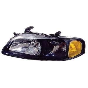 ) SENTRA HEADLIGHT ASSEMBLY LEFT (DRIVER SIDE) (BLK BEZEL) 2002 2003