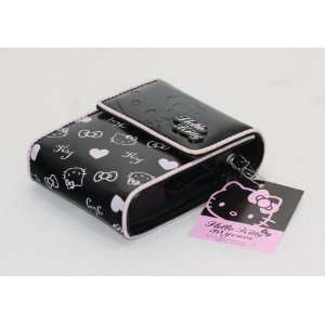 Sanrio Hello Kitty Black w/ Silver Heart Cell Phone Case