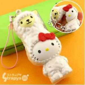 Sanrio Hello Kitty Alpaca Squishy Mascot Cell Phone Charm