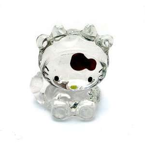 Hello Kitty ~ 2 Chinese Zodiac Glass Ornament   Ox Toys & Games