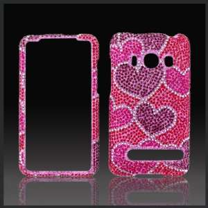 rhinestone diamond case cover HTC Evo 4G Cell Phones & Accessories