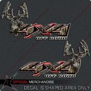 4x4 Deer Hunting Camo Decals F150 Ram Silverado RED X
