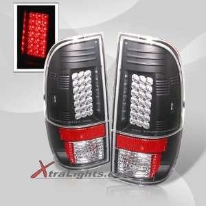 F250 / Super Duty LED Tail Lights   Black (pair)