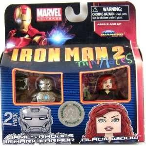 Iron Man 2 Movie Minimates Figure James Rhodes in Mark II