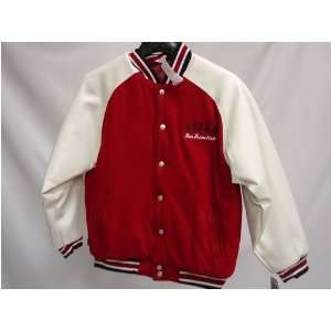 49ers NFL Youth/Kids Pleather/Wool Varsity Jacket Sports & Outdoors