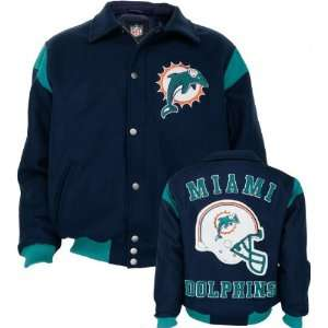 Miami Dolphins Team Color Wool Varsity Jacket  Sports