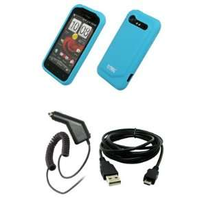 EMPIRE Light Blue Silicone Skin Case Cover + Car Charger