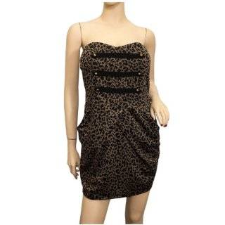Jr Plus Size Animal Print Military Dress Black Clothing