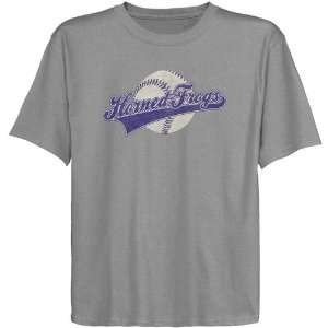 TCU Horned Frogs Youth Script Tail T shirt   Ash Sports